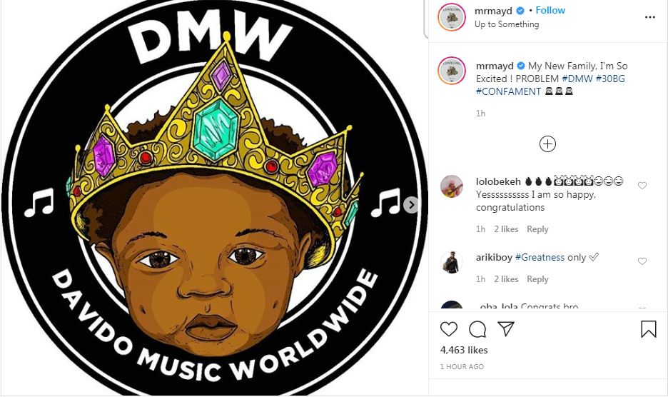 May D joins Davido's DMW label