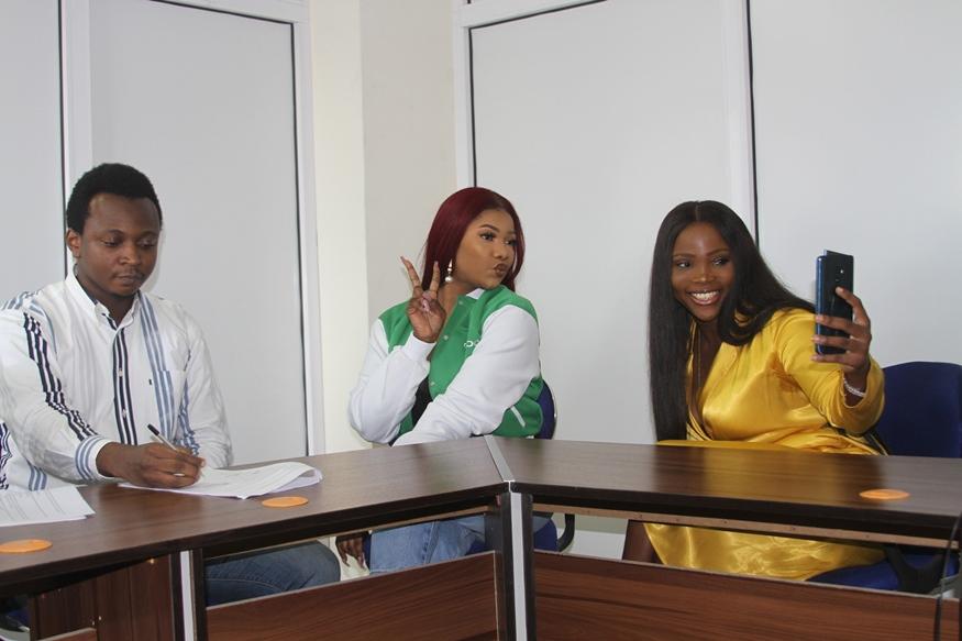 PHOTOS: Tacha bags multi-million Naira partnership deal with OPPO NIgeria