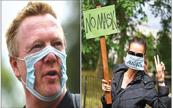 Despite increase in COVID-19 cases, protest against face-mask hits London