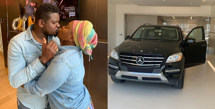 Man buys his wife Mercedes Benz as a push gift for making him a father