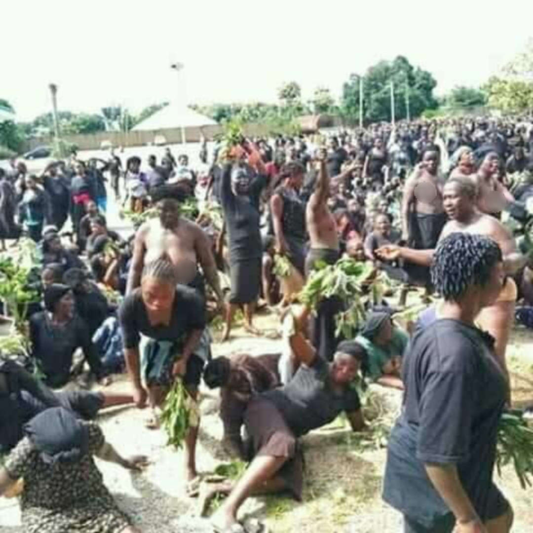 PHOTOS: Naked women storm streets to protest incessant killings in Southern Kaduna