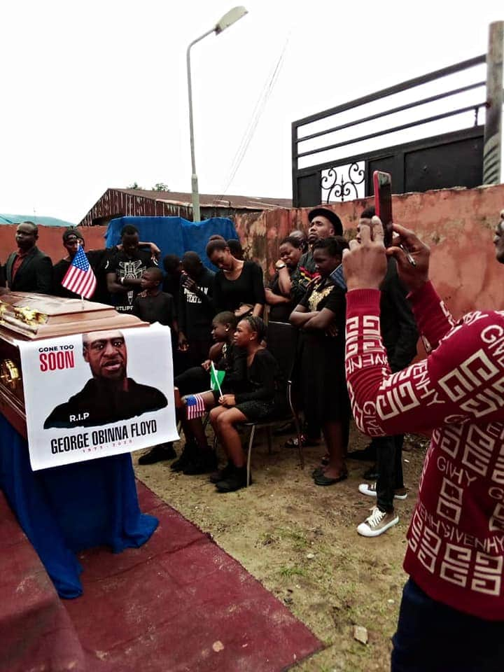 PHOTO: Nigerian Pastor Reburies George Floyd In Mbaise, Imo State