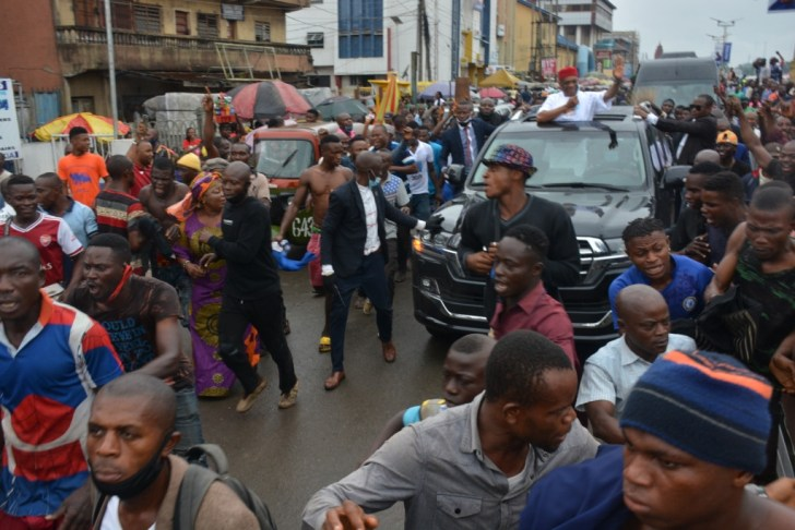 PHOTO: Orji Kalu Receives Hero's Welcome In Abia State Months After He Was Released From Prison