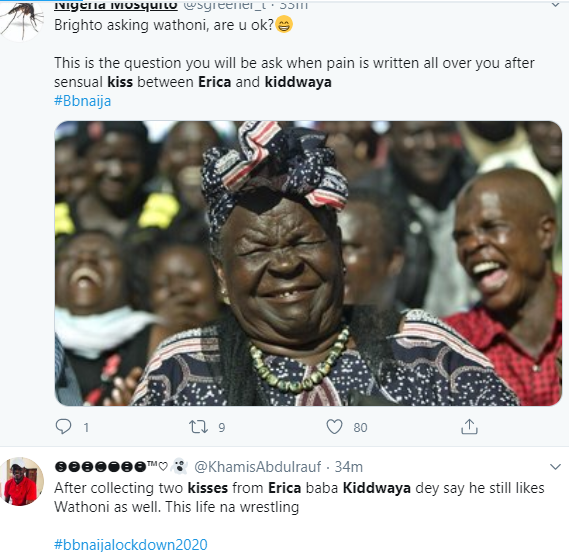 Reactions as Kiddwaya picks Erica as the girl he likes and kisses her passionately days after kissing Wathoni