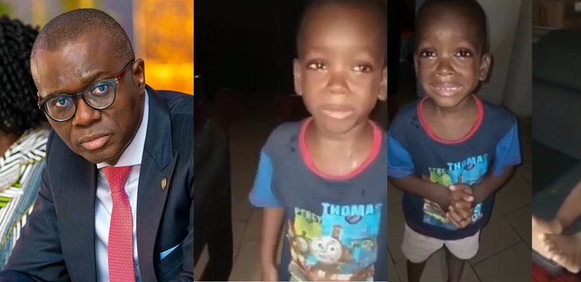 "Lagos Governor, Jide Sanwo-Olu To Meet Little Boy Who Asked His Mom To ""Calm Down"" In Viral Video"
