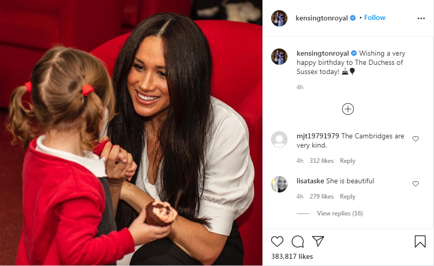 British Monarchs Wish Meghan Markle a Happy Birthday on Social Media