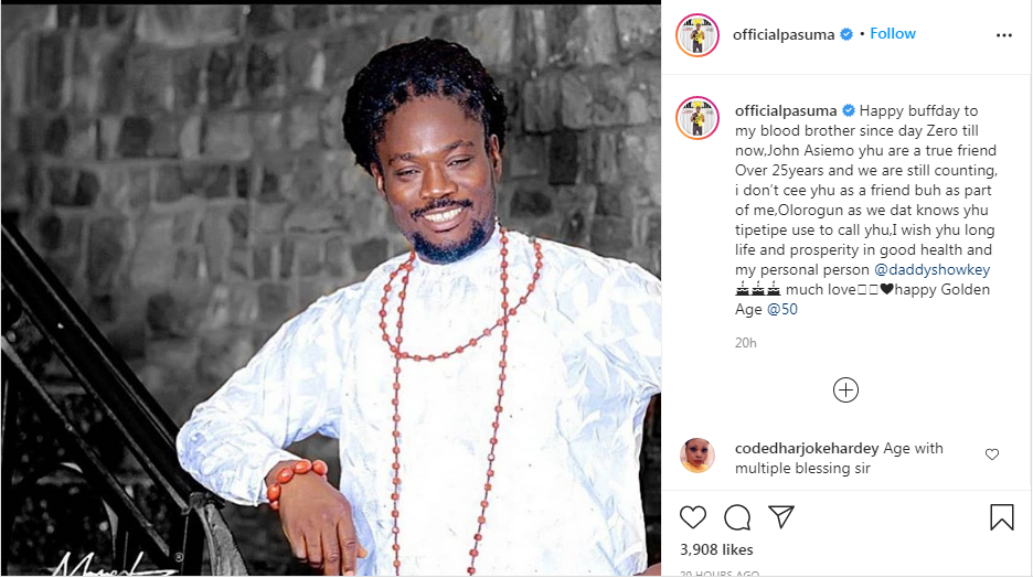 Daddy Showkey part of me now after 25 years – Pasuma
