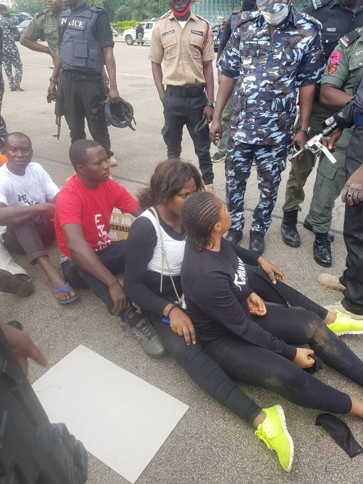 More pictures emerge as security operatives arrest #RevolutionNow protesters in Abuja