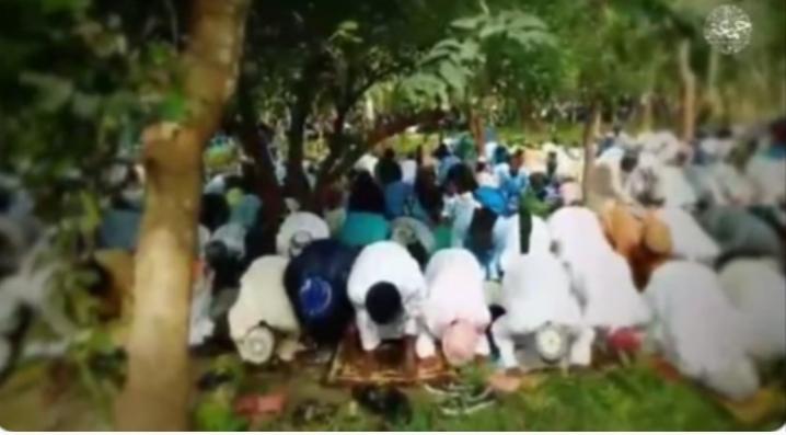 PHOTOS: Boko Haram releases footage of members observing Eid Al-Adha prayer in Niger