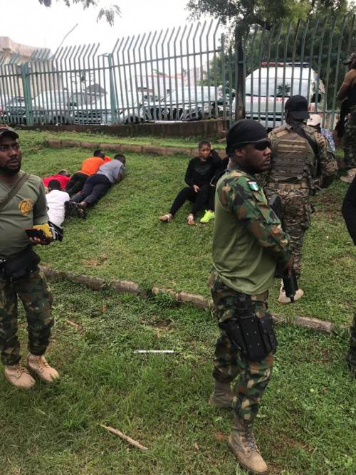 Soldiers, police arrest #RevolutionNow protesters in Abuja, Lagos