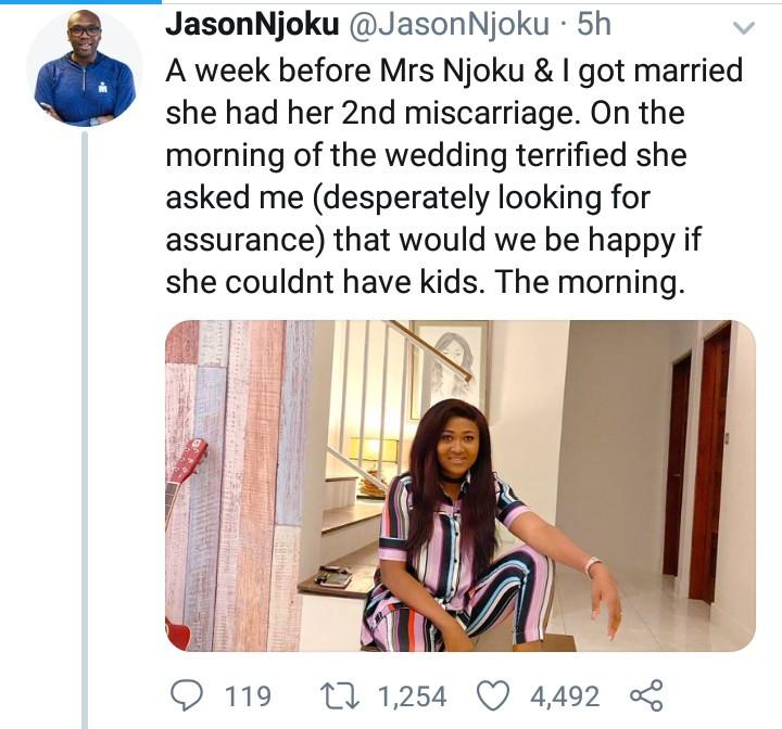 iROKOtv boss, Jason Njoku narrates the difficulties his wife endured to have their three kids