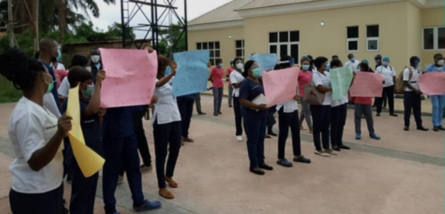 Ondo nurses protest non-payment of salaries