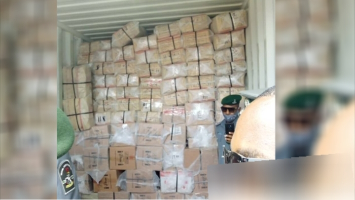 Police intercept 40-foot container filled with Tramadol and Codeine in Lagos