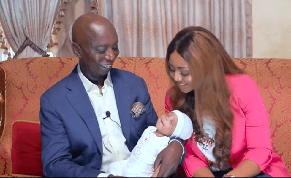 Regina Daniels and husband, Ned Nwoko, finally reveal their son's face (photos)