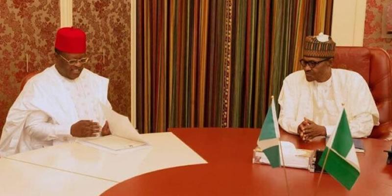 Don't sack service chiefs, increase army funds, Umahi tells Buhari