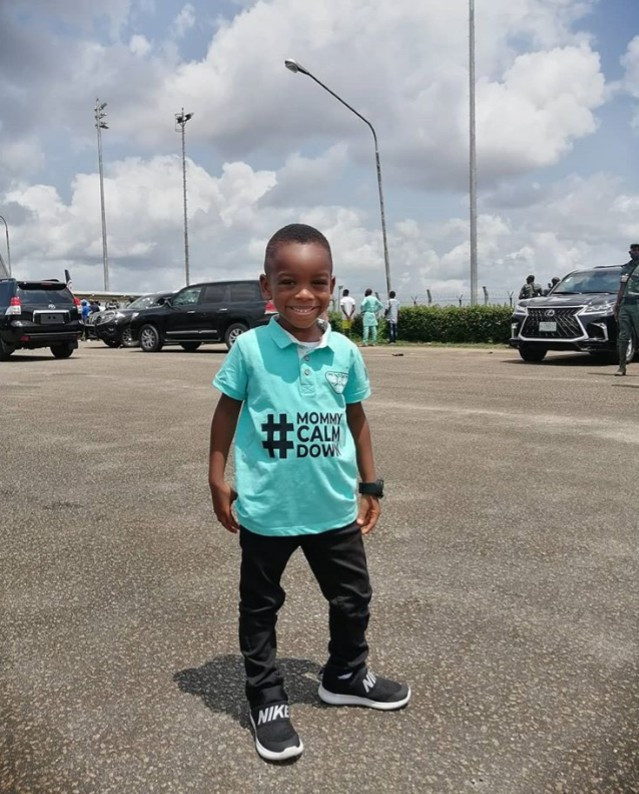 PHOTOS: Lagos state governor, Sanwo-Olu meets the boy in the 'mummy calm down' video