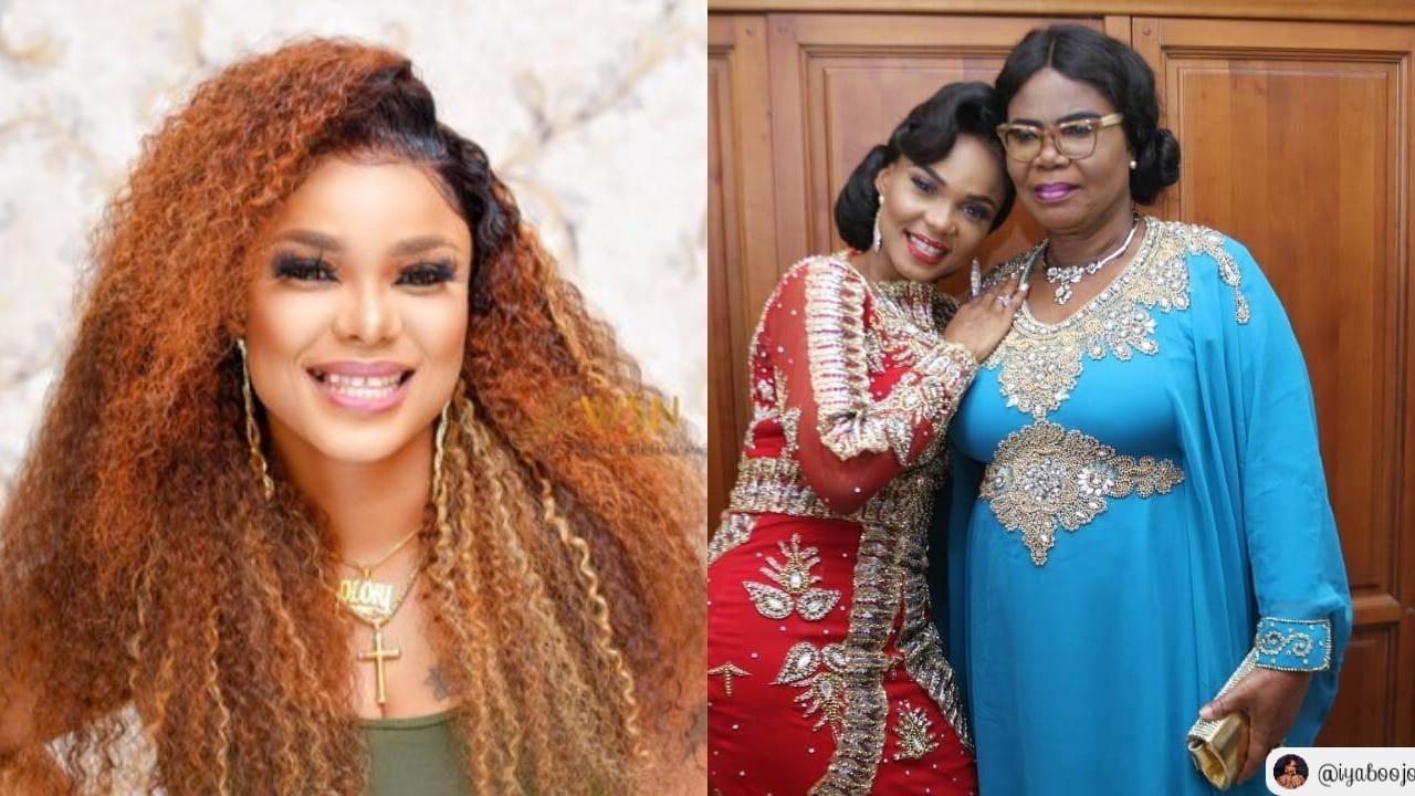 Nollywood actress, Iyabo Ojo celebrates look alike mum on her birthday