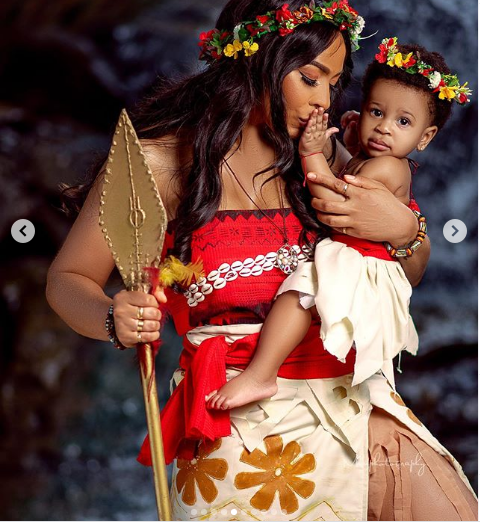 TBoss releases stunning pictures for daughter's first birthday