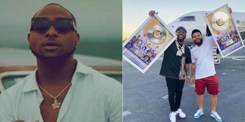 Davido receives honorary plaque as his album hits 1 billion streams