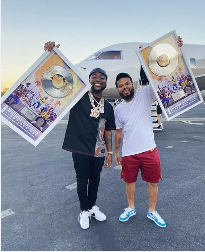 Davido receives honorary plaque as his album hits 1 billion streams