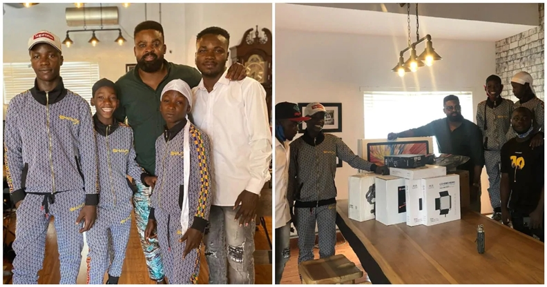 Netflix gifts Ikorodu Bois production gadgets to upgrade their movie-making skills