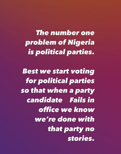 Actress, Ruth Kadiri gives reason why voting should be abolished in Nigeria