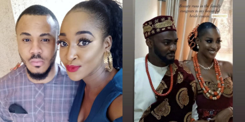 BBNaija's Ozo's sister, Ugy marries her long time best friend (Photos)
