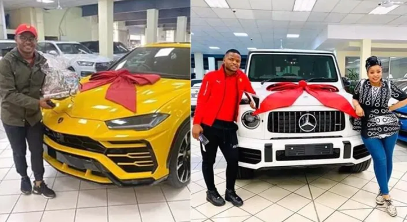 Couple surprise each other with exotic car gifts