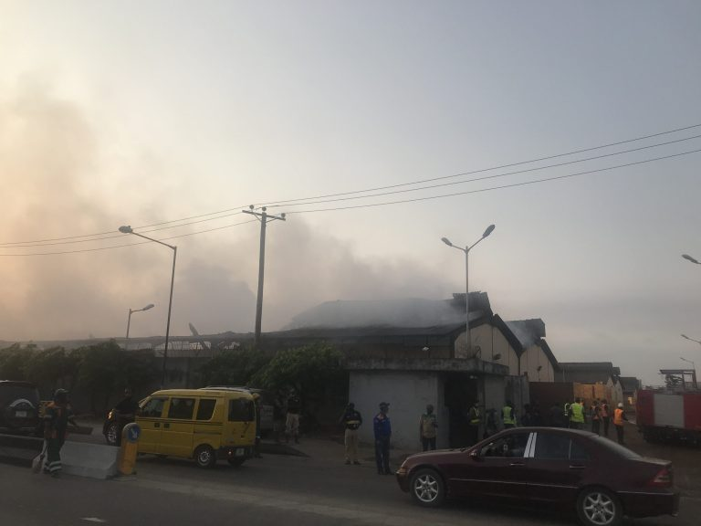 Guinness warehouse gutted by fire in Lagos