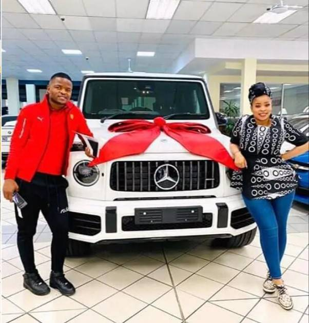 Lovers surprise each other exotic car gifts