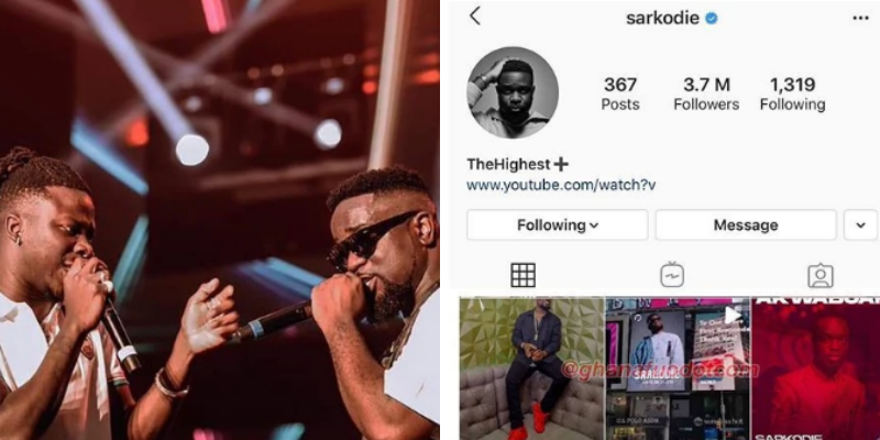 Sarkodie removes Stonebwoy's  concert flyer from his Instagram page after he assaulted his manager