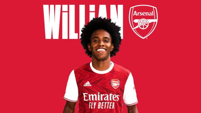 Arsenal confirm Willian signing