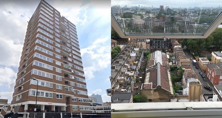 Toddler dies after falling from ninth-floor window of tower block in East London