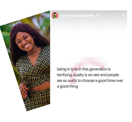 'Loyalty is so rare nowadays' - Actress Yvonne Jegede laments bitterly