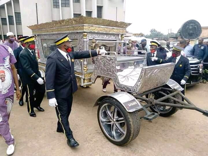 Photos: Late, CEO of Tonimas Oil and Gas, Chief Anthony laid to rest in N34million casket