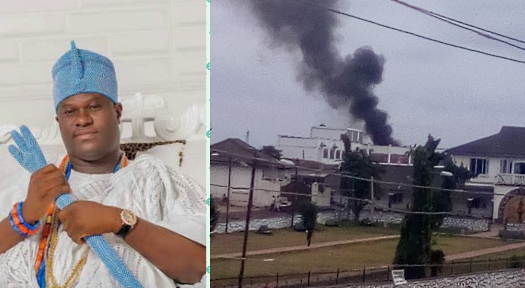 BREAKING: Fire razes building in Ooni's palace