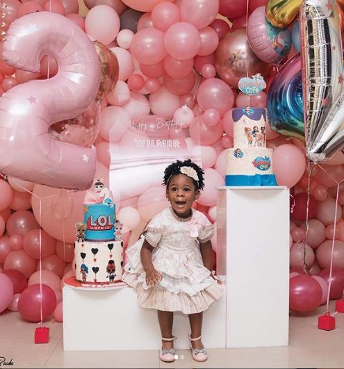 Photos: Singer, Patoranking celebrates daughter as she clocks 2