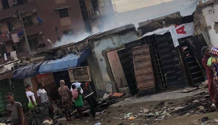 Fire burns shops, kiosks at Adeniji Adele Market in Lagos