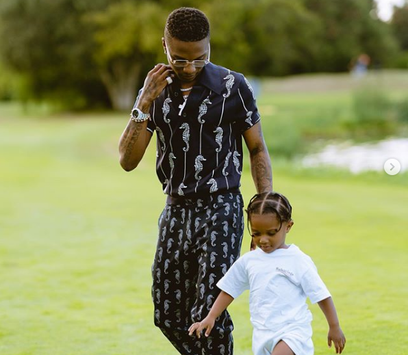 Wizkid shares intimate moment with son, Zion (Photos)