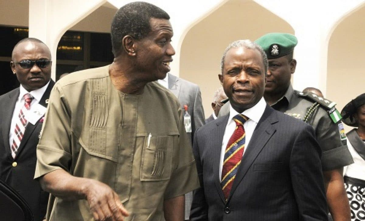 Pastor Yemi Osinbajo breaks silence on CAMA, tells religious leaders what to do