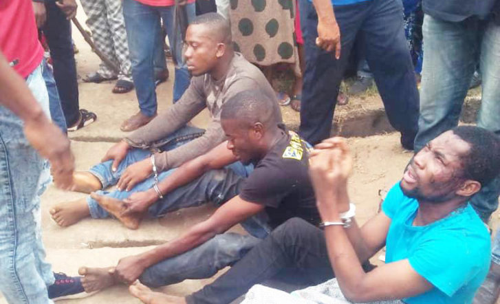 Eagle-eyed motor park drivers nab church robbers in Delta