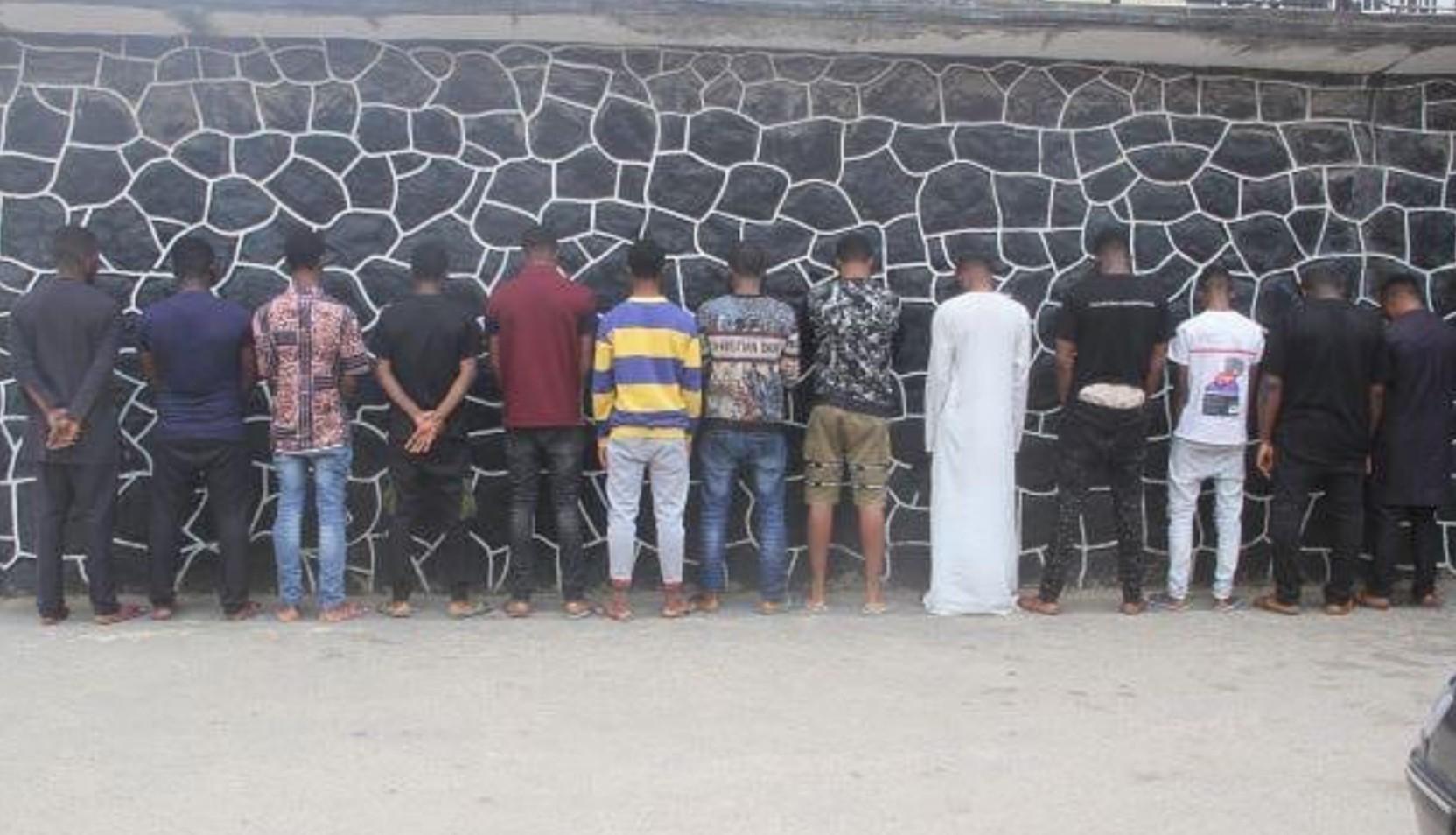 EFCC arrests 13 suspected internet fraudsters in Lagos