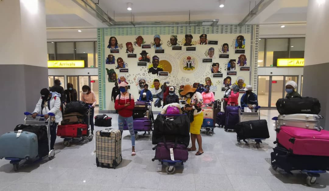 27 stranded Nigerian girls evacuated from Lebanon arrive Abuja