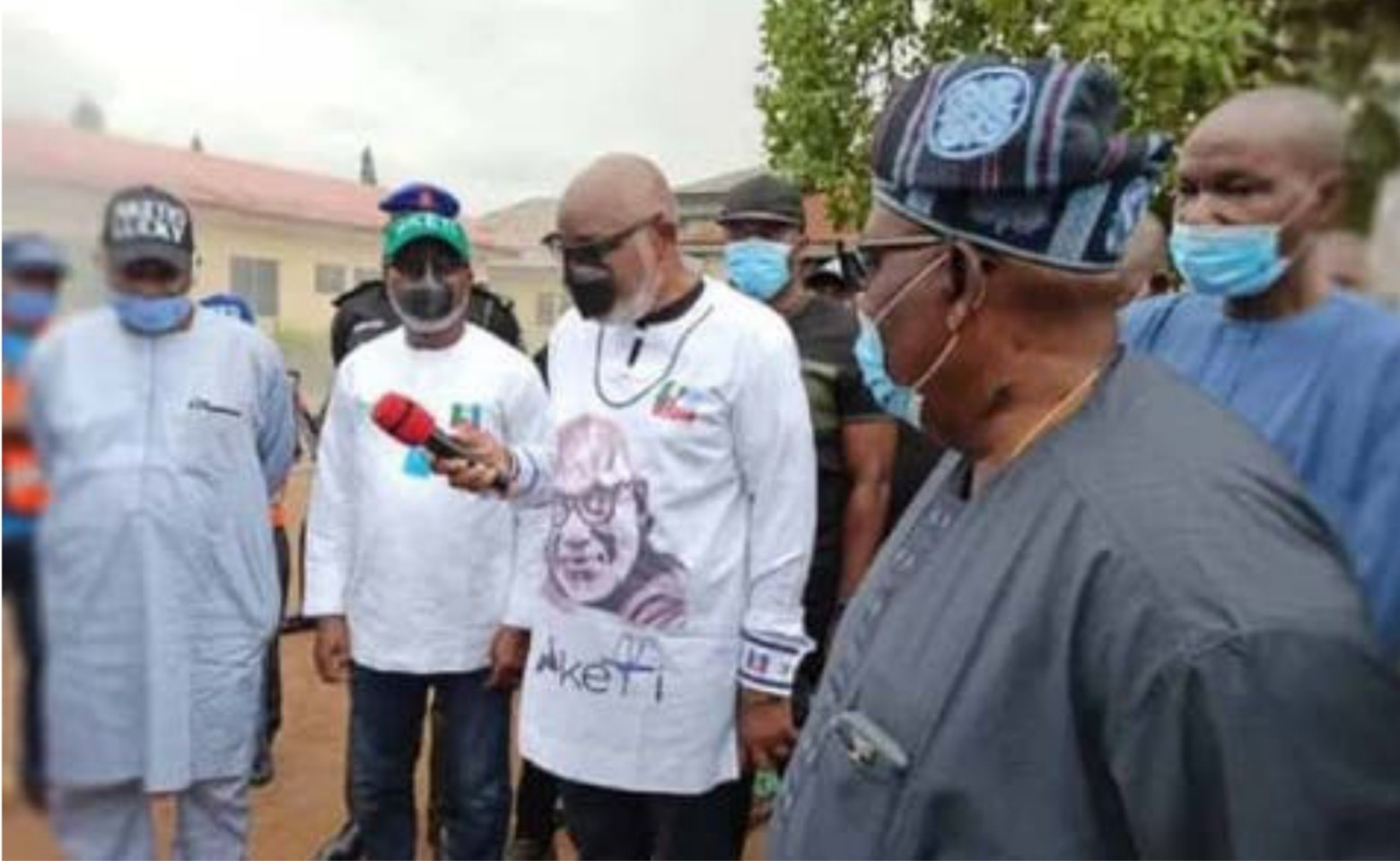 Gov Akeredolu react to fire outbreak at INEC Headquarters in Ondo