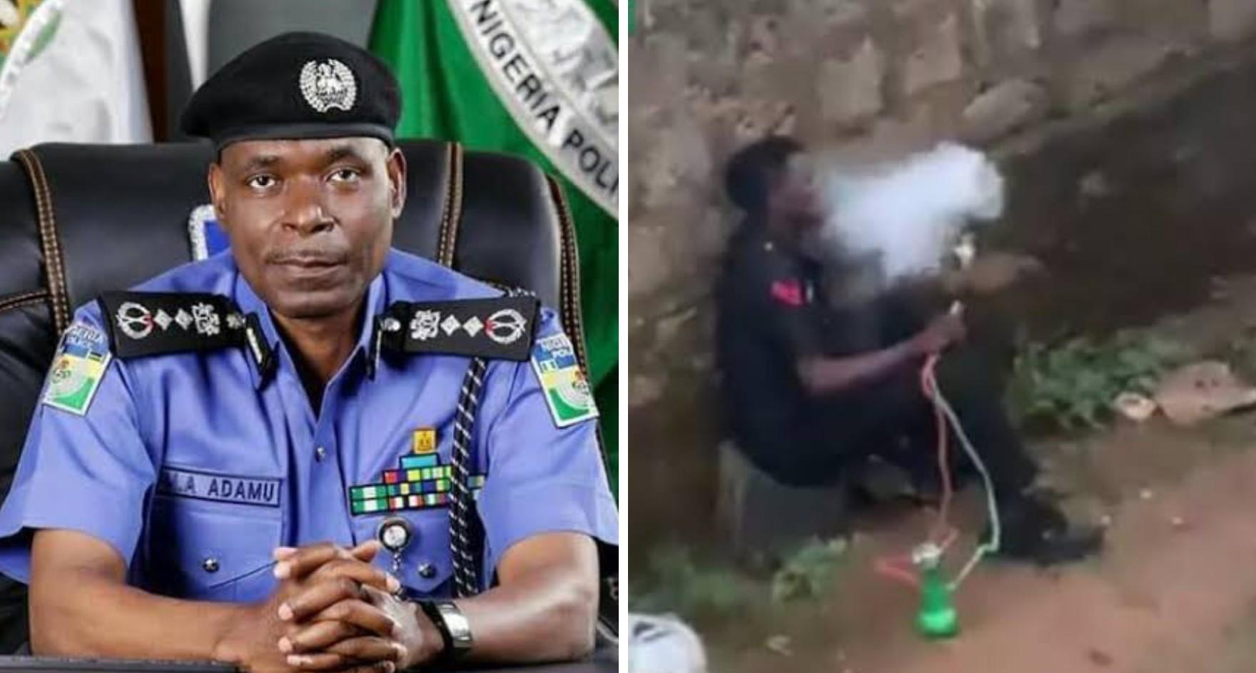 Police investigate video of man in 'police uniform' smoking shisha