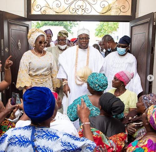 Photos : Oniru of Iru Kingdom, Gbolahan Lawal pays Oba Elegushi, Ademola Saheed a courtesy visit