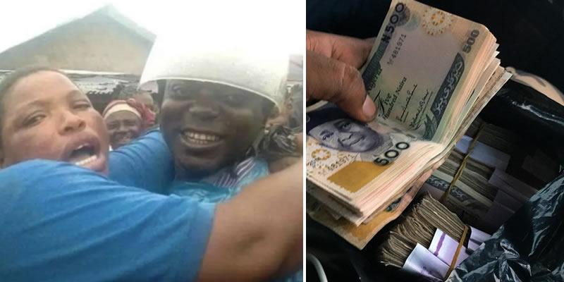 Woman sheds tears of joy after a bike man returned her missing N700,000