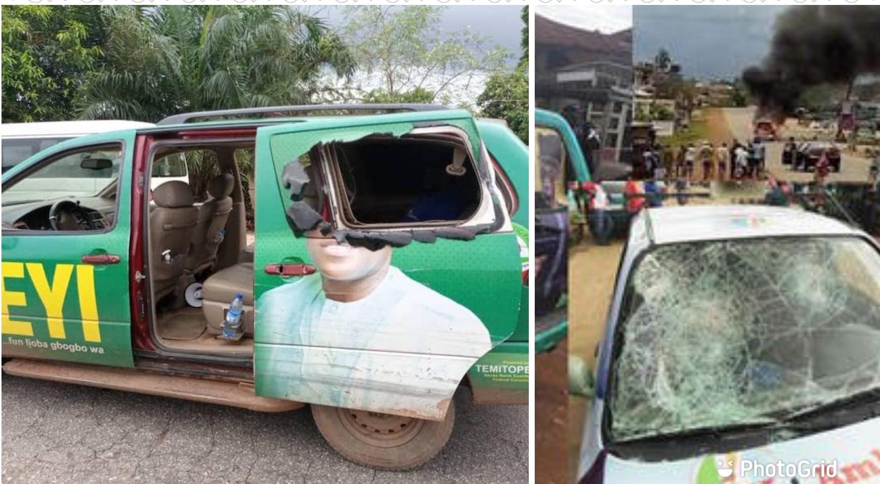 Ondo 2020: Several injured, vehicle burnt as Akeredolu, Jegede loyalists clash