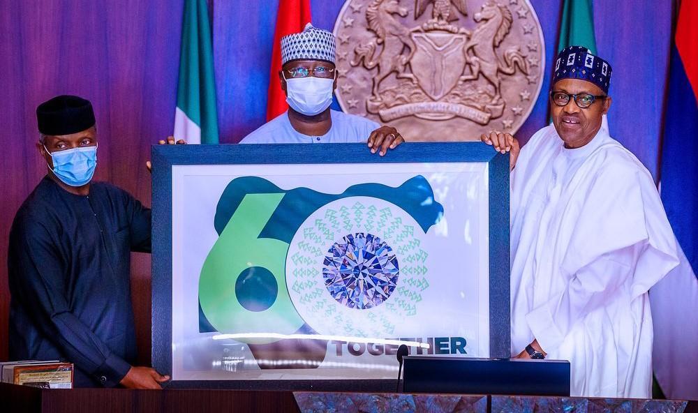 PHOTOS: Buhari unveils Nigeria @60 logo