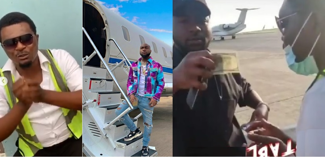 """""""Davido Please Help Me"""" - Airport Official Who Davido tipped $100, cries out for help after getting fired"""